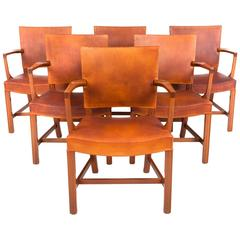 Kaare Klint the Red Chair Set of Six Armchairs