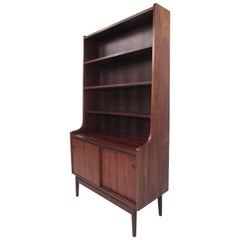 Mid-Century Modern Danish Rosewood Secretary Desk and Shelf