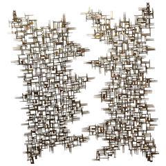 American Pair of Gilt Metal Sculptured Doors by William Bowie