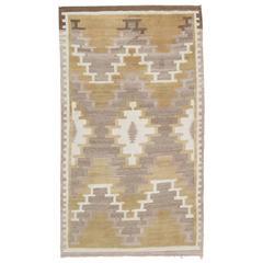 Vintage Navajo Rug, Patterned Rug, Handmade Rug, Beige Wool Rug