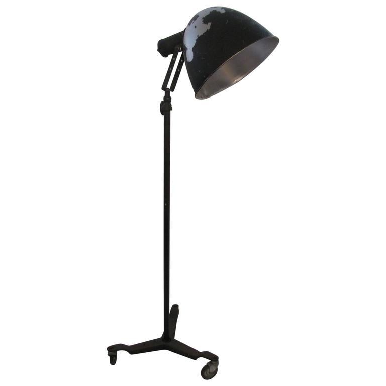 Photogenic Nickel Finish Tripod Floor Lamp Industrial Vintage Home Decor Lamps