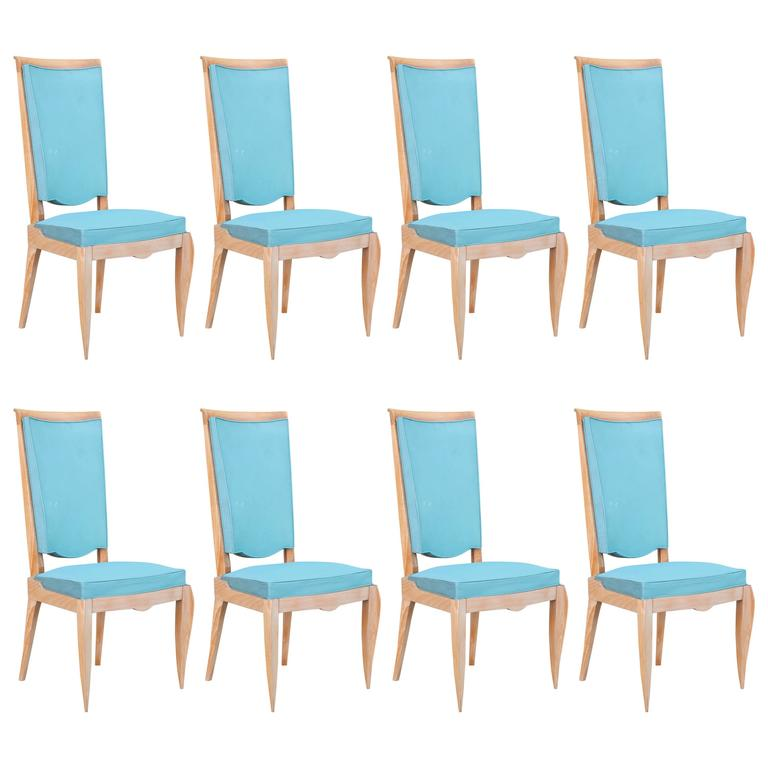 Set of Eight French 1940s Chairs 1  Set of Eight French 1940s Chairs For  Sale. 1940s Furniture For Sale