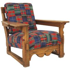 American Rustic Old Hickory Oak Armchair