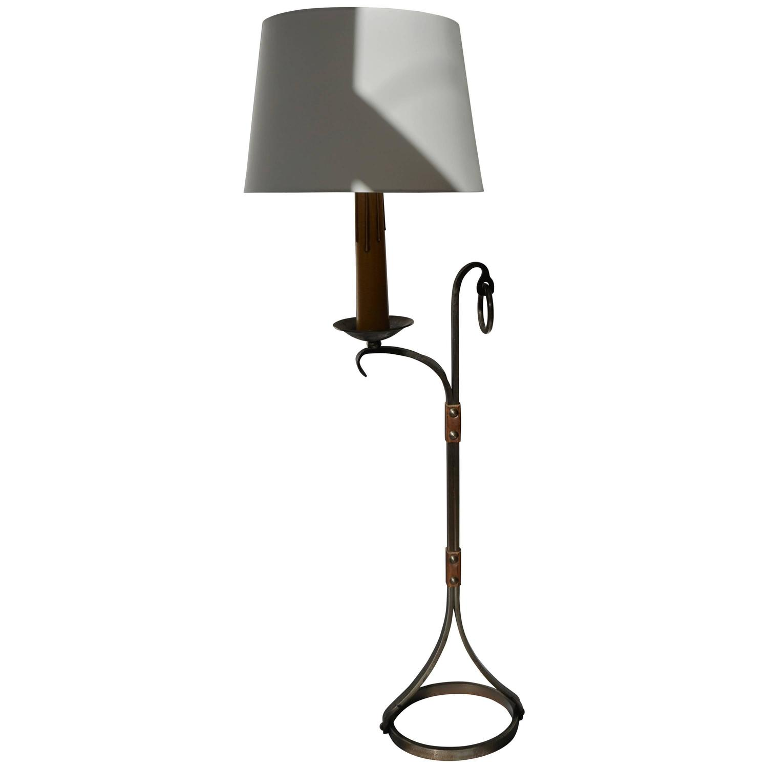 wrought iron floor lamp for sale at 1stdibs. Black Bedroom Furniture Sets. Home Design Ideas