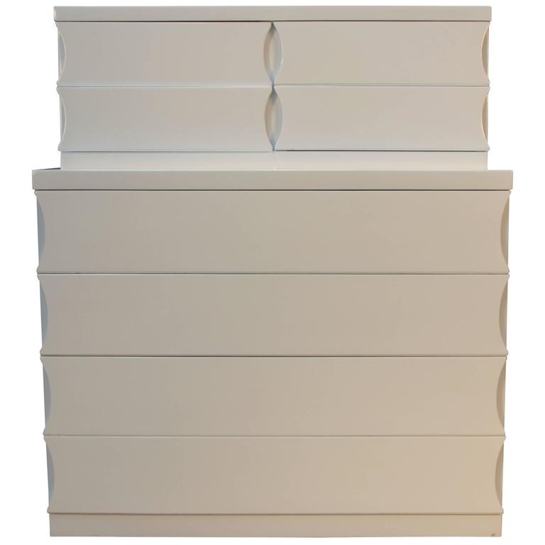 Newly Lacquered High Chest of Drawers
