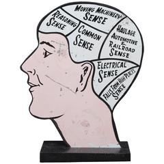 Phrenology Tin Advertising Head of Common and Uncommon Sense