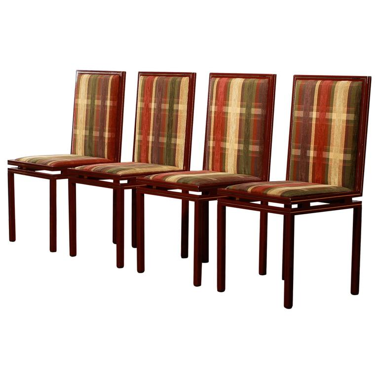 this set of four dining room chairs by pierre vandel paris is no