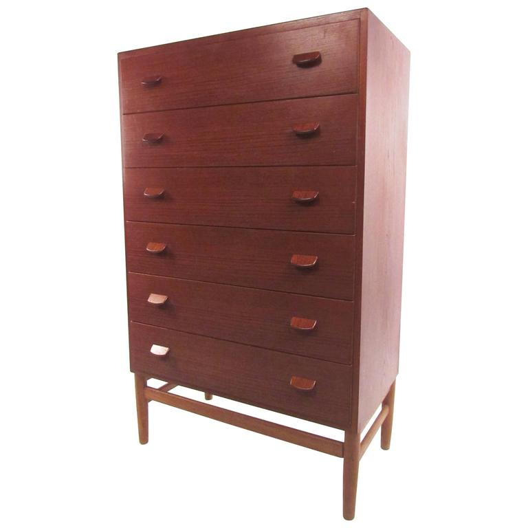 Mid-Century Modern Danish Teak Highboy by Poul Volther