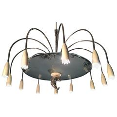 Chandelier Attributed to Pietro Chiesa for Fontana Arte, 1940s