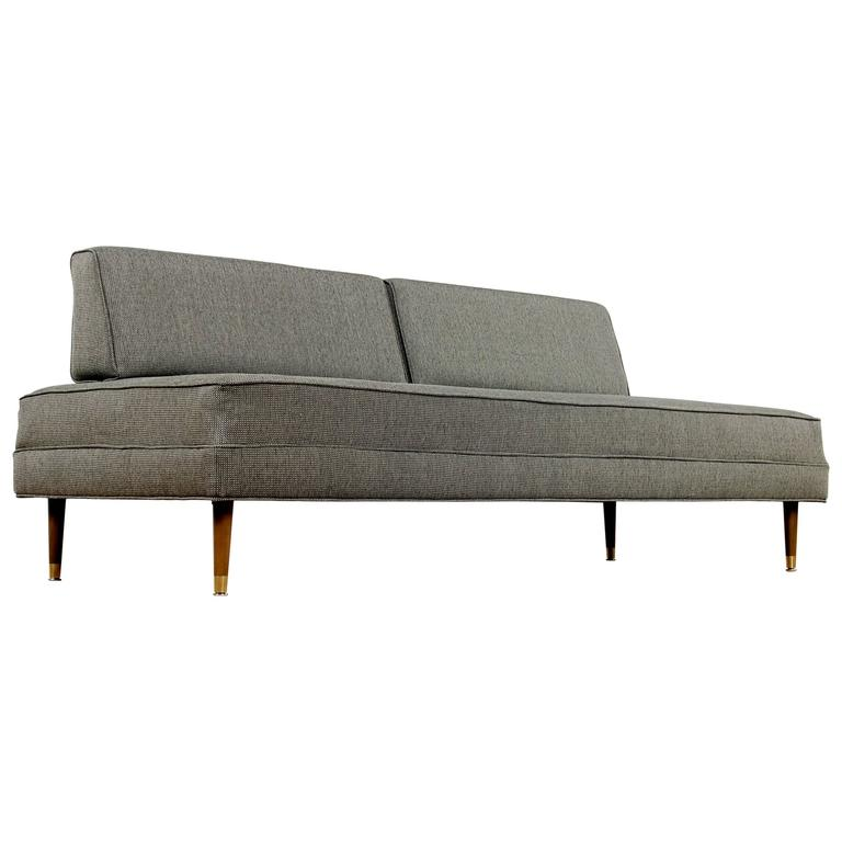 Restored mid century modern daybed sofa at 1stdibs for Mid century modern day bed