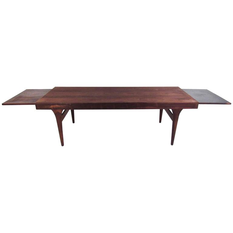 Draw Leaf Rosewood Coffee Table by Johannes Andersen