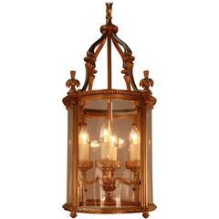 Elegant Gilt Bronze Lantern