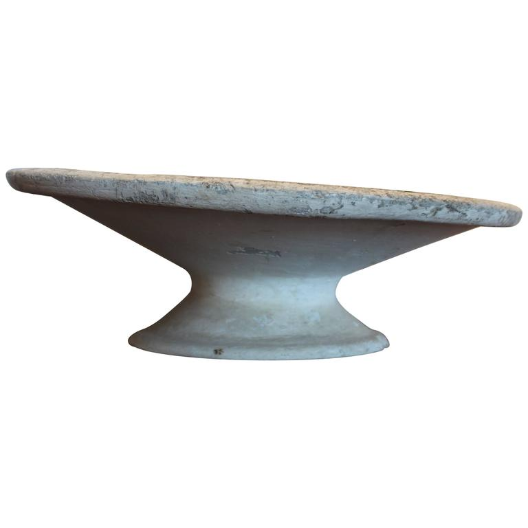 Antique french cast cement planter on stand 1910 for sale at 1stdibs - Casting concrete planters ...