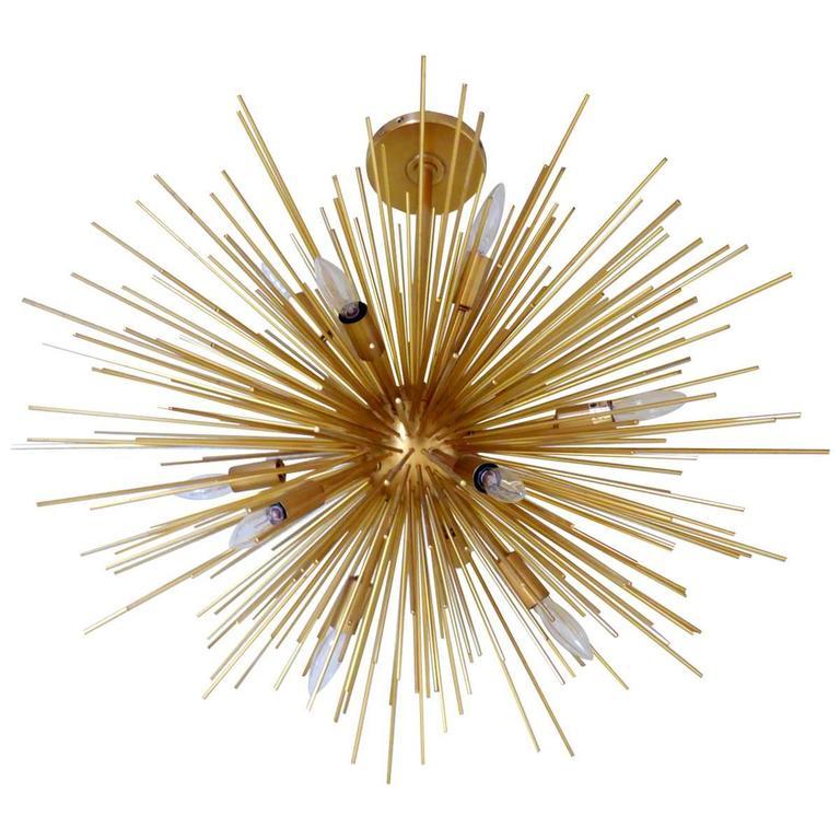 gold sputnik chandelier. Magnificent Gold Sputnik Chandelier For Sale A