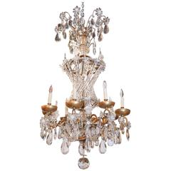 Antique Bagues Chandelier, Large Size and Bronze and Crystal