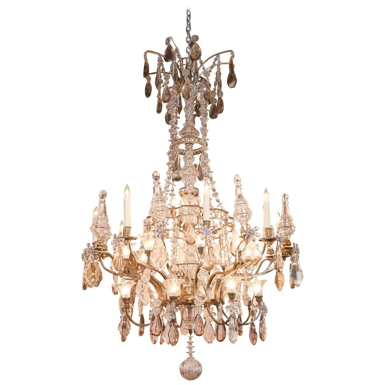 Palace Size Grand Baccarat Crystal And Bronze Chandelier