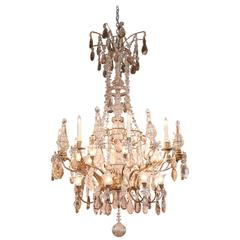 Palace Size Grand Baccarat Crystal & Bronze Chandelier with Twenty Eight Lights