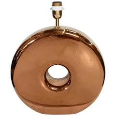 Copper Donut Table Lamp
