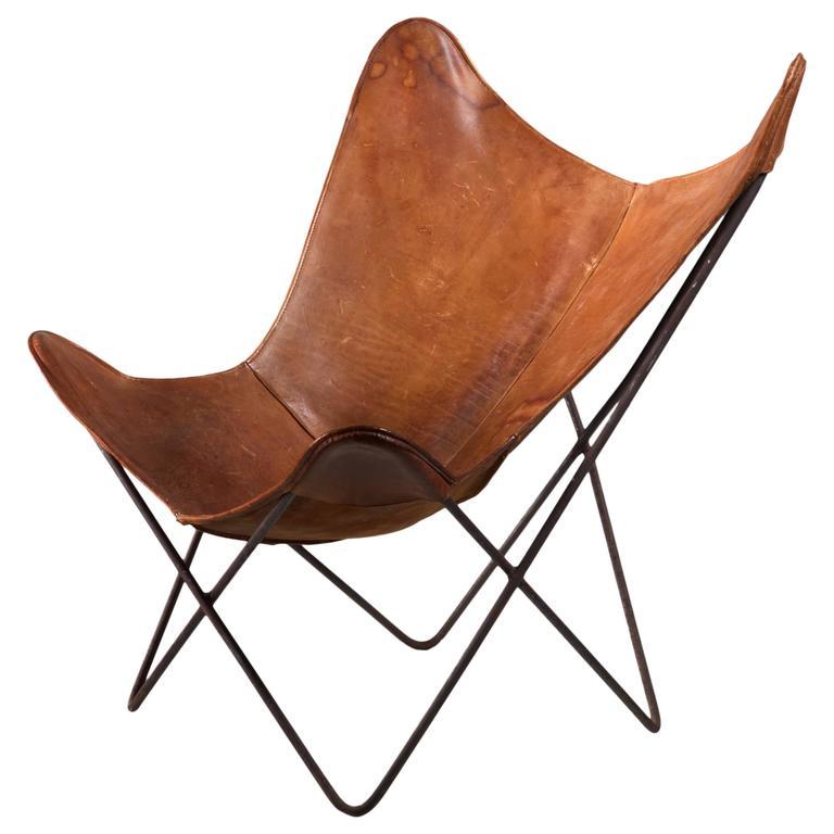 jorge ferrari hardoy butterfly chair for knoll 1950s for. Black Bedroom Furniture Sets. Home Design Ideas