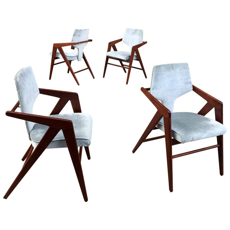 Compass Chairs by Cornelis Zitman for Tecoteca, Furniture Hotel Humbold For Sale