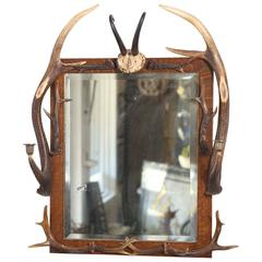 Black Forest Hunt Mirror from Bodendorf Castle, Germany