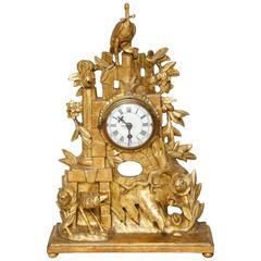 Rococo Giltwood Clock