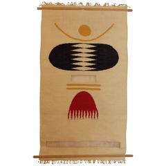 Modernist Fiber Art Tapestry