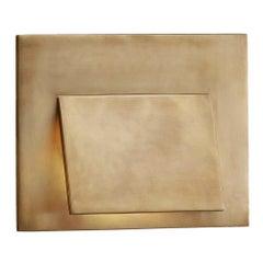 Kelly Wearstler Esker Envelope Sconce in Burnished Brass