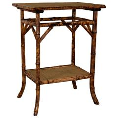 19th Century French Tortoise Bamboo Table