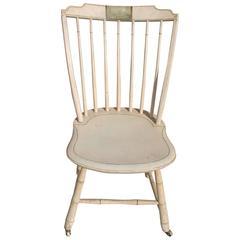 Early 19th Century NE Original Paint Decorated Windsor Chair