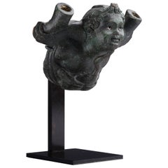 Ancient Roman Bronze Figure of Eros Cradling Goose, 200 AD