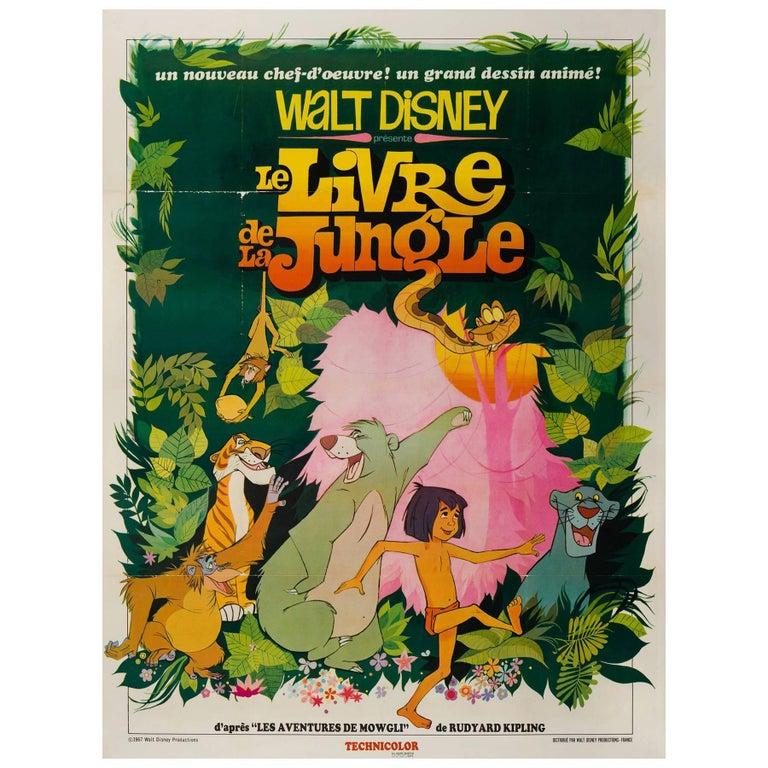 Jungle Book Original French Grande Film Poster, 1967