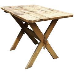 Distressed Clipped Corner Sawbuck Farm Table