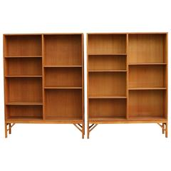 Børge Mogensen Pair of Oiled Oak Bookcases by C M Madsen for FDB, 1954