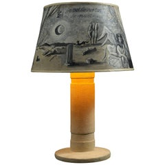 Christian Berard, Lamp base with Painted Shade, 1937