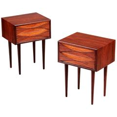 Pair of Tall Rosewood Nightstands by Arne Vodder