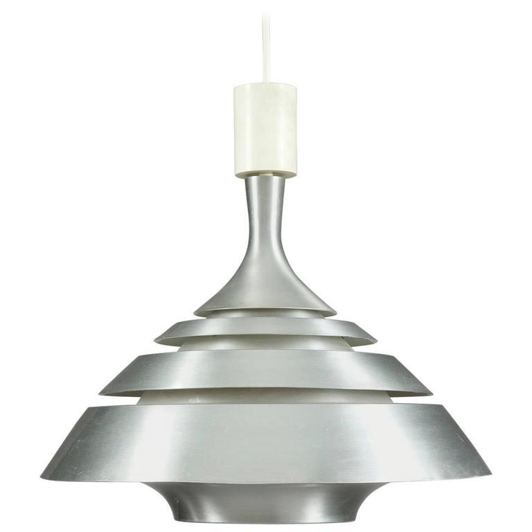 Aluminum 1970s UFO Modernist Lamp