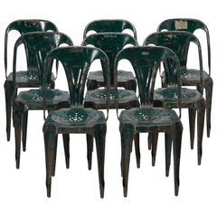 set of eight original tolix steel chairs at 1stdibs