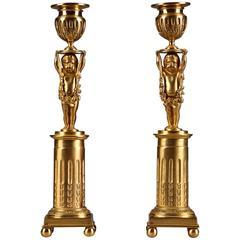 Napoleon III Pair of Candlesticks