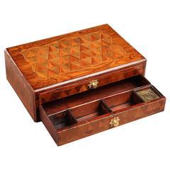 Louis XV Period Veneered Writing Box on a Stand