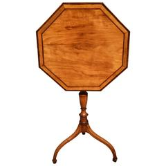 George III Satinwood and Rosewood Crossbanded Tripod Table