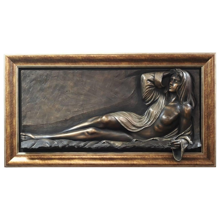 Bill Mack, Large Bonded Bronze Relief  For Sale