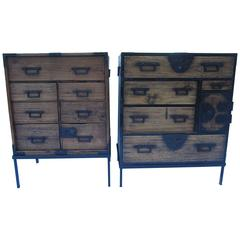 Complementary Pair of Tansu Nightstands