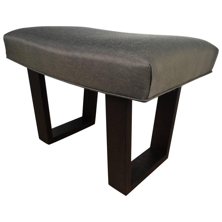 Robsjohns -Gibbings Style Ebonized Bench 1