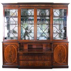 George III Breakfront Bookcase with Secretary