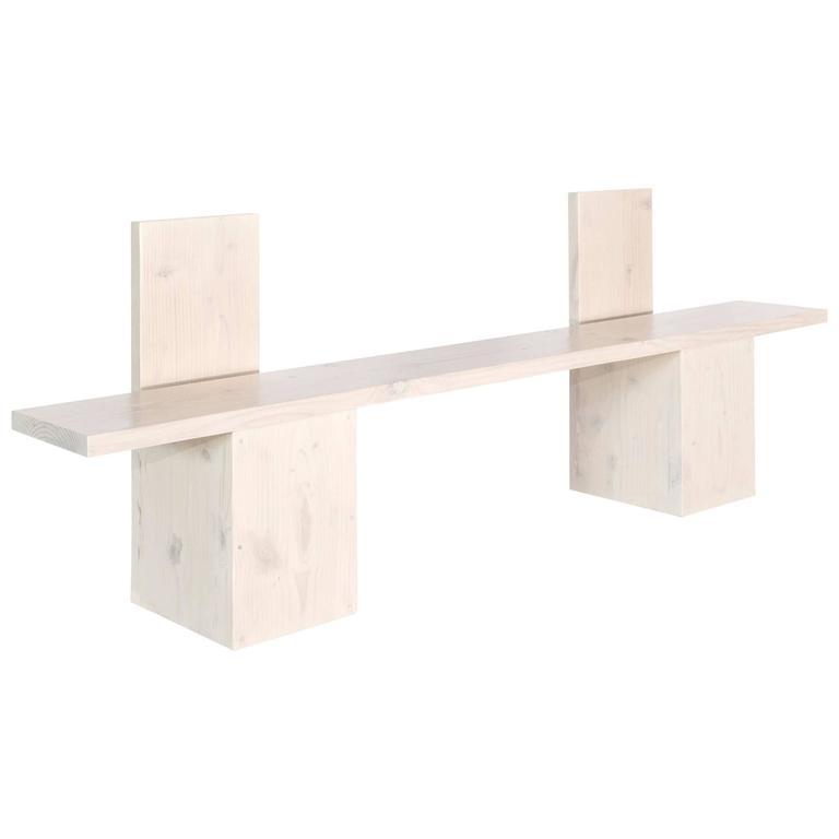 'Monument II' Minimal Hardwood Bench by Lukas Machnik