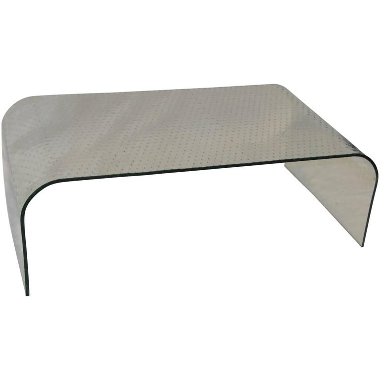 Waterfall Style Plate Glass Coffee Table
