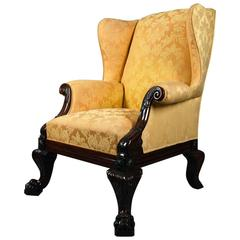 Substantial Scottish Mahogany Wing Chair, circa 1860