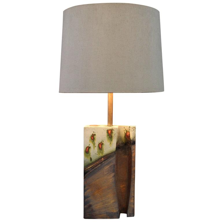 Large Ceramic Table Lamp by Marcello Fantoni