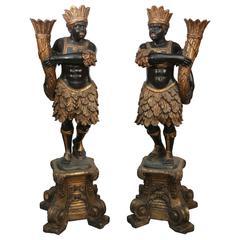 Pair of 19th Century Lifesize Blackamoors